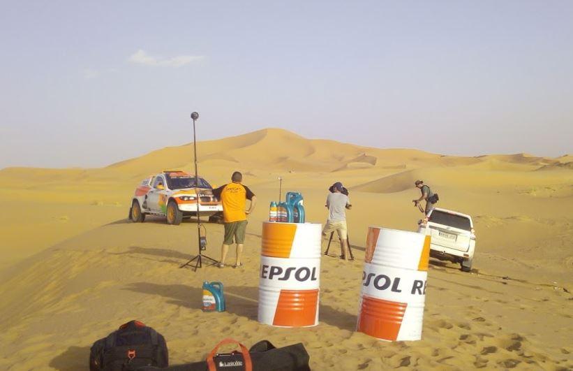 Rodaje Pre-Dakar en el desierto :: Filmación aérea con drones