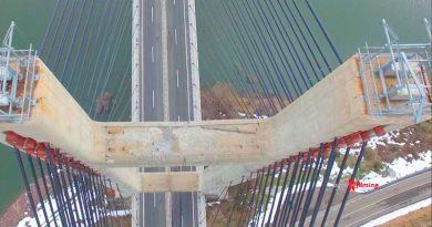 Inspección con dron del segundo puente más grande de España